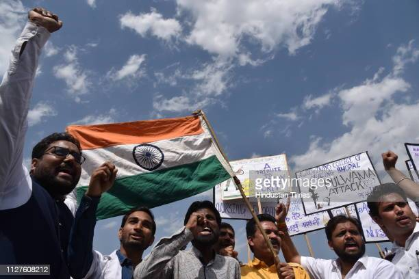 Students pay tribute to CRPF jawans killed in Pulwama terror attack and celebrate Indians airstrike on the JaisheMohammeds biggest camp in Pakistans...