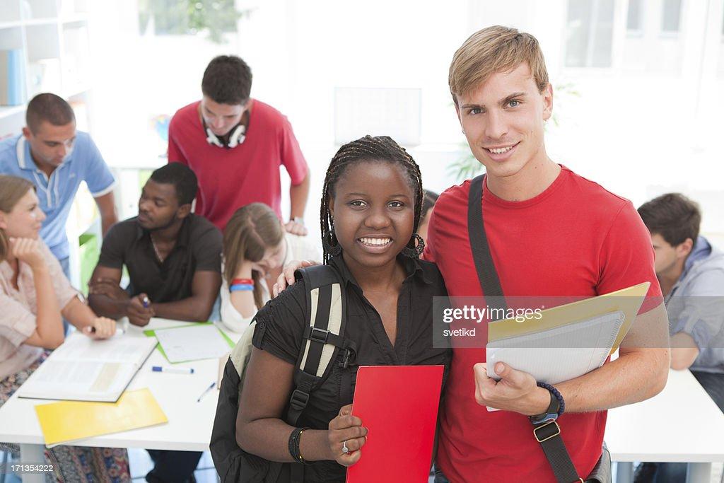 Los estudiantes. : Foto de stock