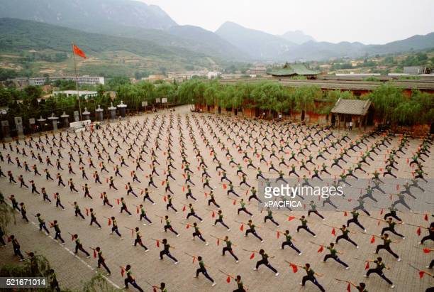 students practice synchronized kung fu - submission combat sport stock pictures, royalty-free photos & images