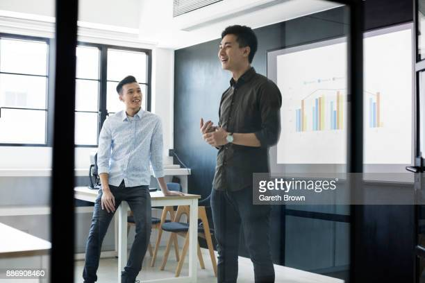 Students presenting in class