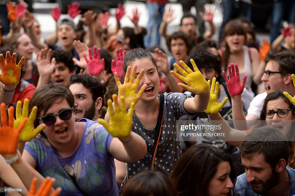 ITALY-EDUCATION-DEMO : News Photo