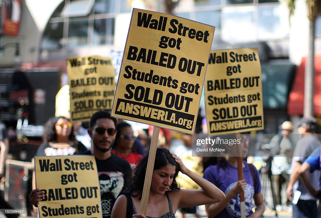 Activist Demonstrate Against High Cost Of College Education In U.S. : News Photo