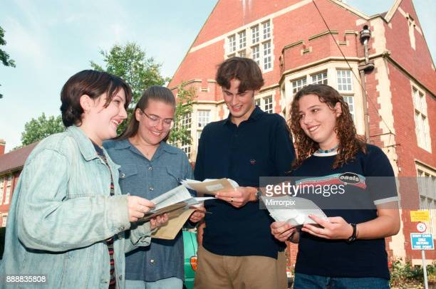 Students receiving their A Level results at Wearside College's Bede Centre Sunderland 15th August 1996