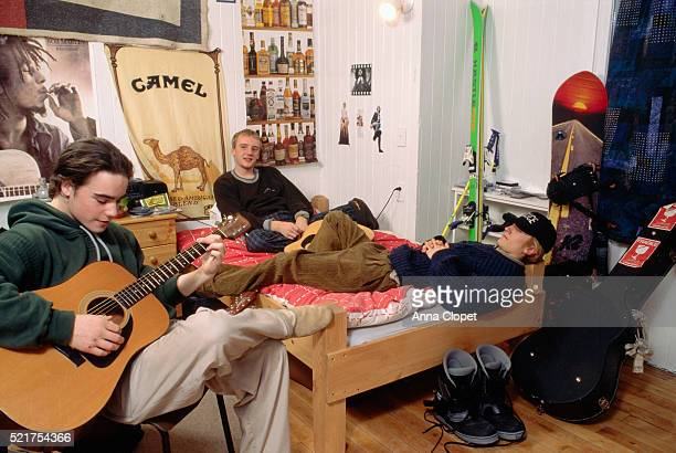 Students Relaxing in Their Dorm Room