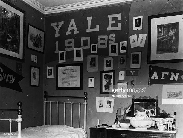 A student's room at Yale University
