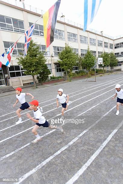 Students running