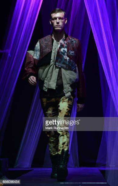 Students show their creations at the Glasgow Art School fashion show on March 21 2017 in Glasgow Scotland 2017 marks the 70th anniversary of the...
