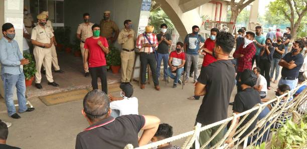 IND: Students Protest To Oppose The Order Passed By University To Vacate Hostel Premises
