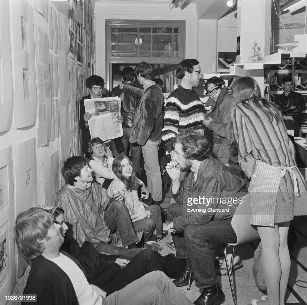 Students' sitin protest at Guildford School of Art UK 22nd June 1968