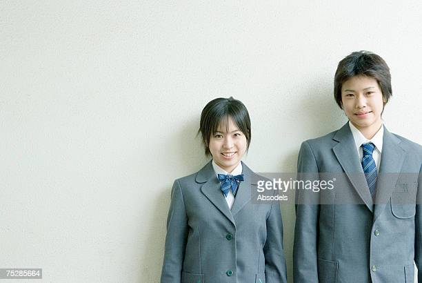 students smiling - japanese girls hot stock photos and pictures