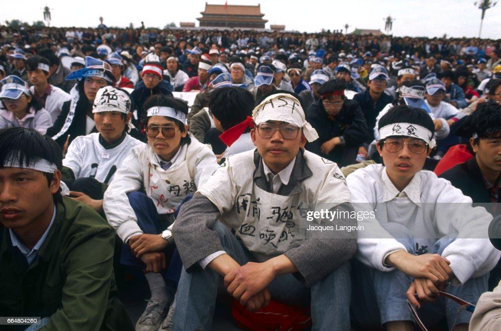 Hunger Strikers in Tiananmen Square : Nieuwsfoto's