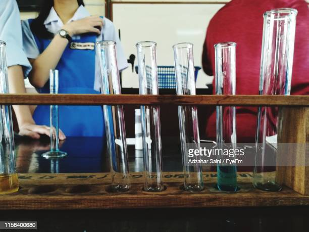 students standing in chemistry class - sarawak state stock pictures, royalty-free photos & images