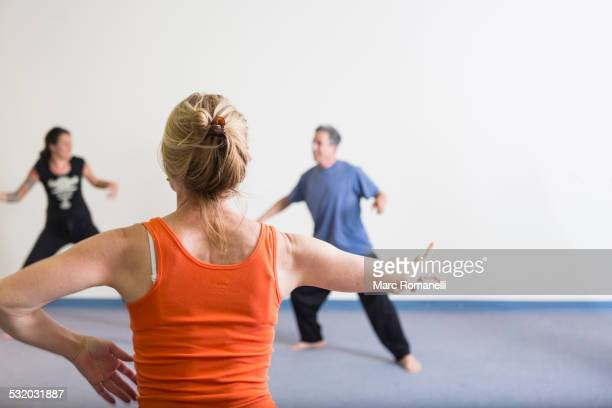 Students stretching in acting class