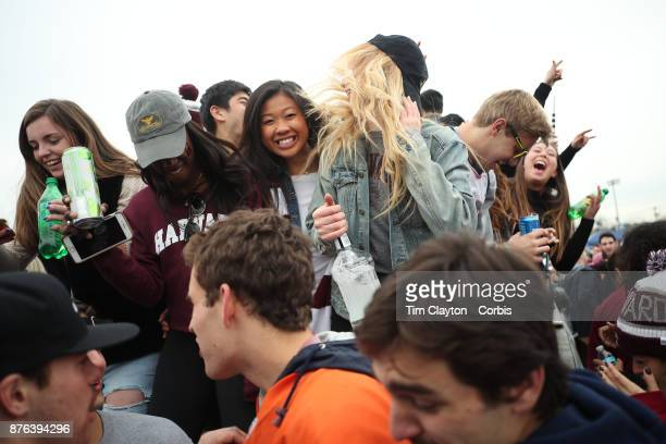 Students tailgating before the Yale V Harvard Ivy League Football match at the Yale Bowl The game was the 134th meeting between Harvard and Yale a...