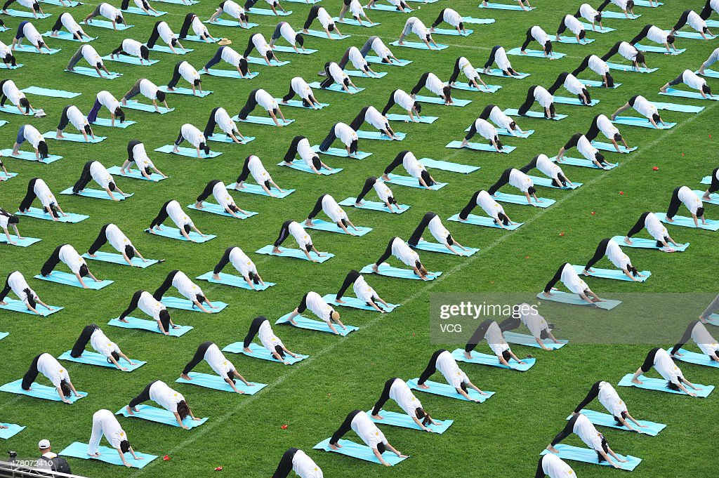 Chinese Mark The First International Day Of Yoga : News Photo
