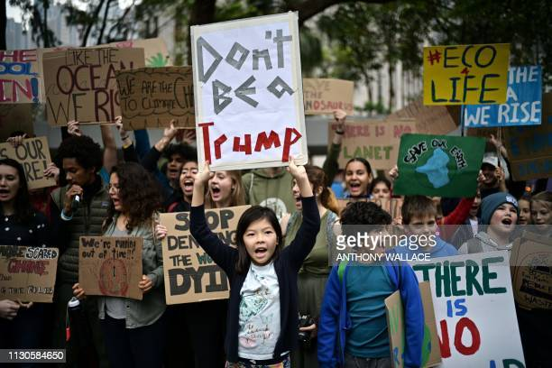 TOPSHOT Students take part in a protest against climate change in Hong Kong on March 15 as part of a global movement called #FridaysForFuture