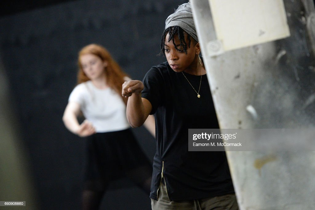 Students take part in workshop performance during a visit by the Earl of Wessex at the National Youth Theatre on June 8, 2017 in London, England.