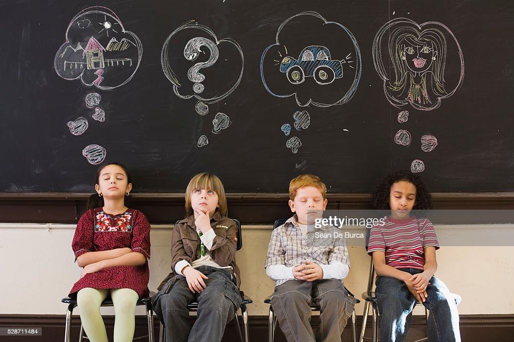 Students Thinking of Goals : Stock Photo