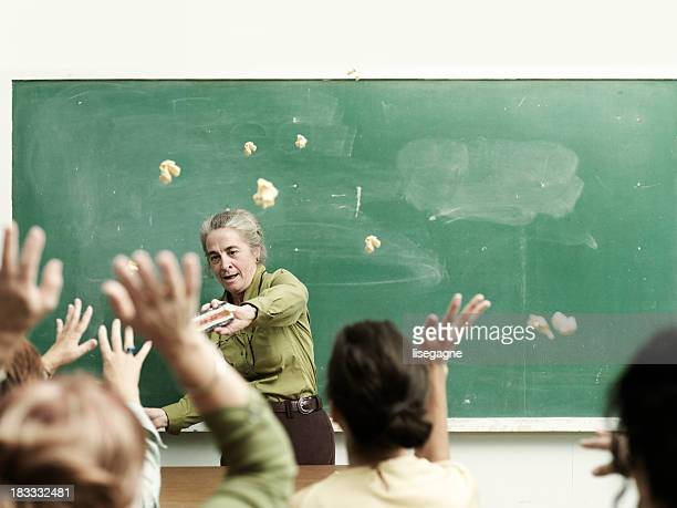 students throwing papers - violence stock photos and pictures