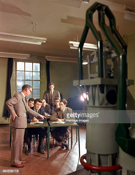 Students training at the Park Gate Iron & Steel Co, Rotherham, South Yorkshire, 1964. A group of mechanical engineering students receiving training....