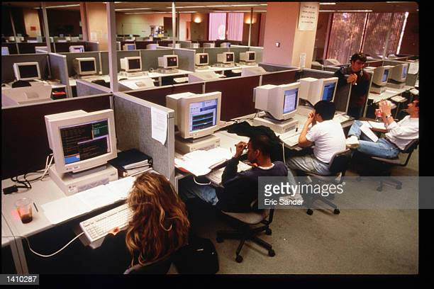 Students use computers at Stanford University March 15 1997 in San Francisco CA Since the beginning of the 1990s San Francisco has become the place...