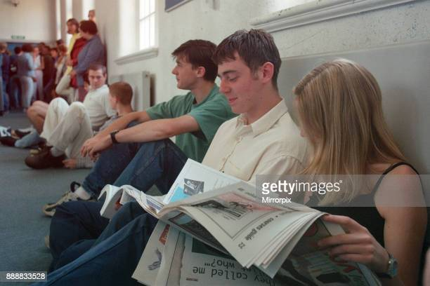 Students wait for their A Level results at Wearside College's Bede Centre Sunderland 15th August 1996