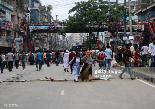 Students walk back home due to no vehicles during the protest A large number of rickshawpullers and owners blocked Dhaka roads for the second day...