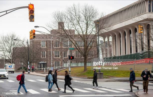 Students walk on campus at Princeton University on February 4, 2020 in Princeton, New Jersey. The university said over 100 students, faculty, and...