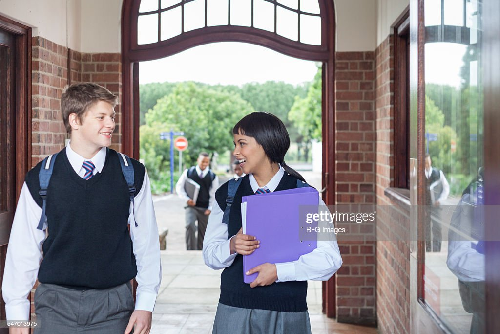 Students Walking Through The School Hallway Cape Town South Africa High Res Stock Photo Getty Images