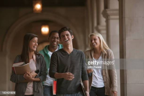 Students walking together on campus