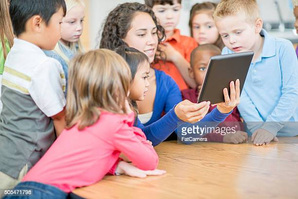 Students Watching an Educational Video