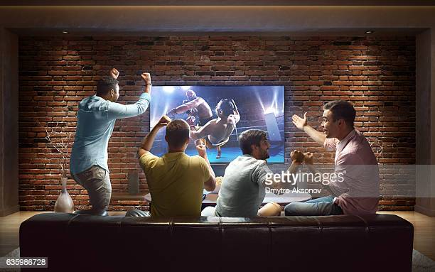 Students watching Boxing at home