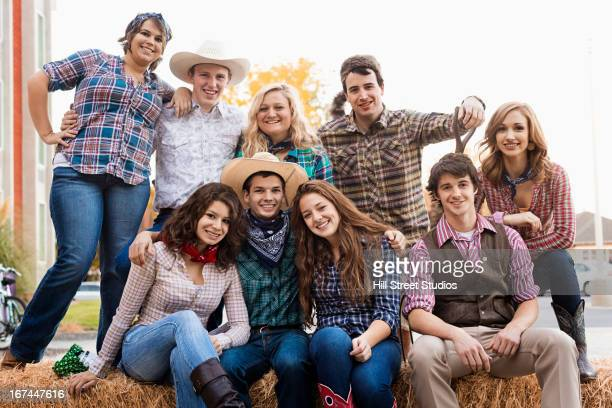 Students wearing country western outfits