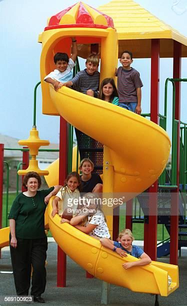 Students who named the new park in Ventura Juanamaria Park Top l–r Jaime Luna Brad Kleckner Morgan Harvey Aaron Suel Bottom l–r teacher Joanne...