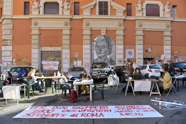 ITA: Students Study At Sit-In Protest
