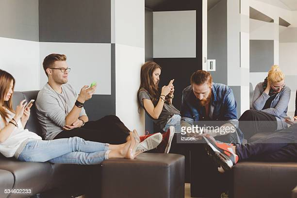 Students with smart phones