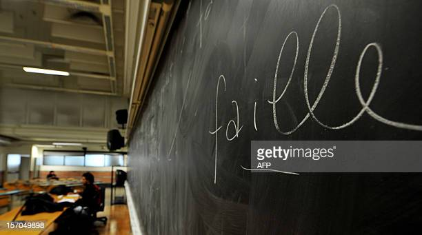 Students work in a classroom of the Roma Tre university on November 7 2012 in Rome About 870 teachers are working in the eight faculties of the...