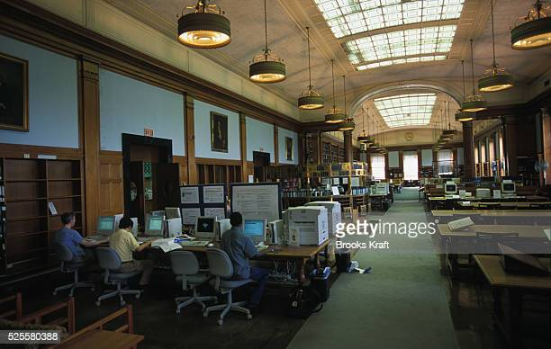 Students work inside Baker Library at Harvard Business School in Boston MA Harvard Business School is one of the graduate schools of Harvard...
