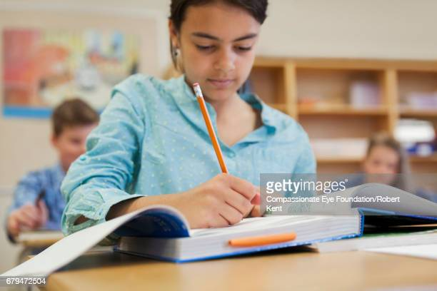 students working in classroom - leanincollection stock pictures, royalty-free photos & images