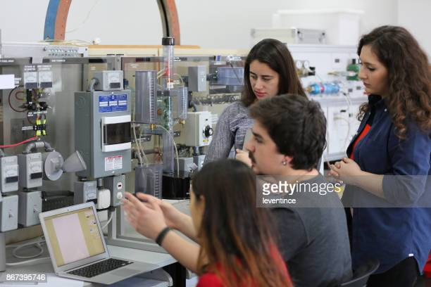 students working in laboratory of renewable energy. - high school musical: the musical: the series stock pictures, royalty-free photos & images