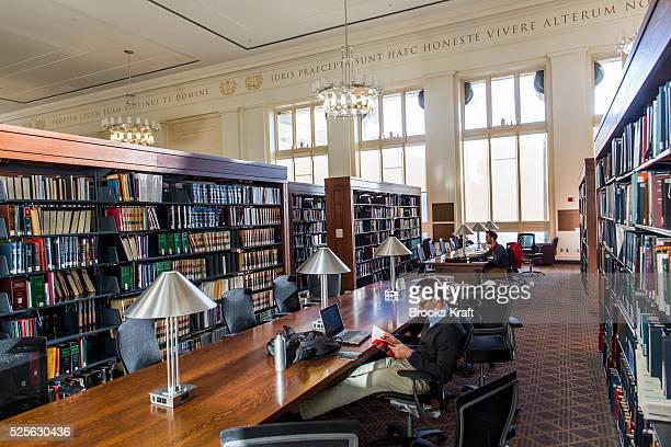 Students working in Langdell Hall Library on the campus of Harvard Law School in Cambridge MA Harvard Law School is the oldest continuallyoperating...