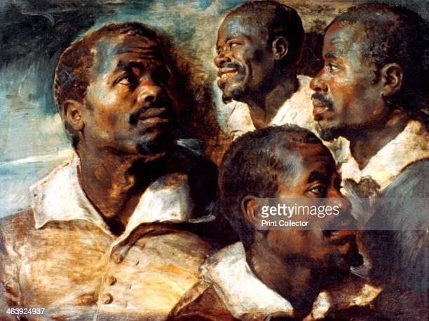 'Studies of the Head of a Negro' 17th century Musees Royaux des BeauxArts de Belgique Brussels Belgium