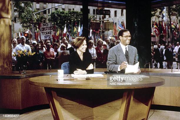 TODAY Studio 1A Debut Pictured NBC News' Katie Couric Bryant Gumbel during the debut of Studio 1A on June 20 1994 Photo by Craig Blankenhorn/NBC/NBC...