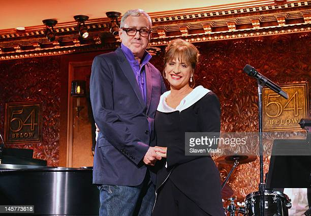 Studio 54 creative consultant Scott Wittman and singer/actress Patti LuPone attend the 54 Below With Patti Lupone Press Preview at 54 Below on June 5...