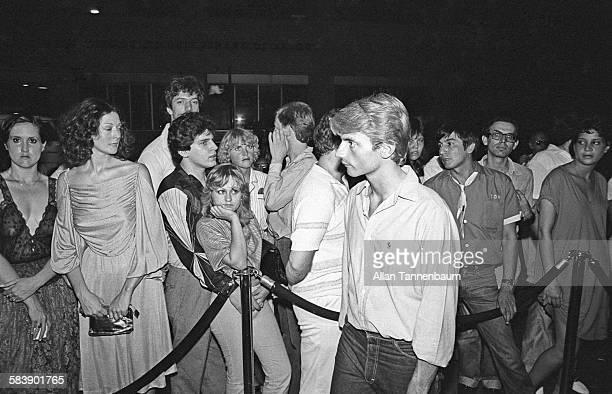 Studio 54 doorman Mark Benecke selects who will enter the nightclub New York New York July 27 1979