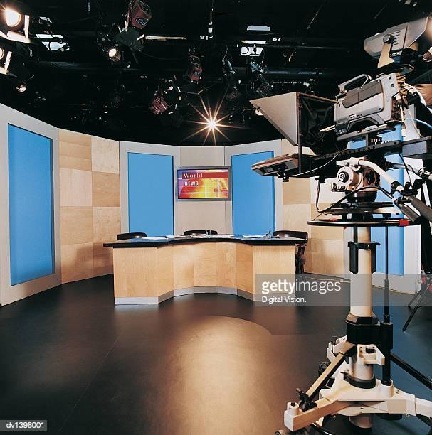TV Studio and a TV Camera