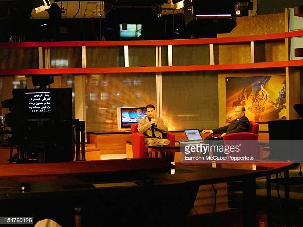 A studio at the headquarters of the Al Jazeera TV network in Doha Qatar 19th October 2005