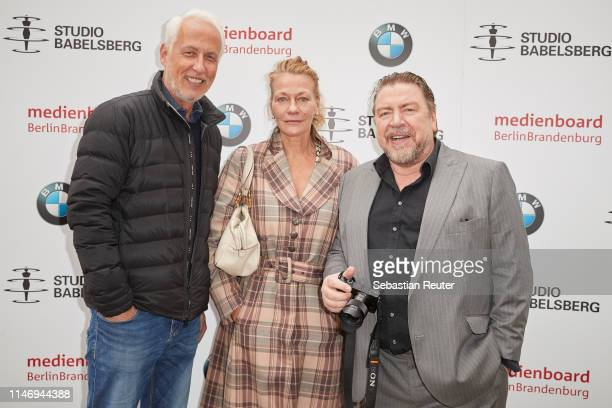CEO Studio Babelsberg Motion Pictures GmbH Dr Carl L Woebcken Karen Boehne and Armin Rohde attend the Studio Babelsberg Brunch on the occasion of the...