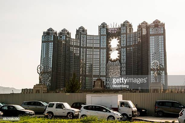 Studio City casino resort developed by Melco Crown Entertainment Ltd stands in Macau China on Wednesday Aug 5 2015 Melco plans to open a $32 billion...