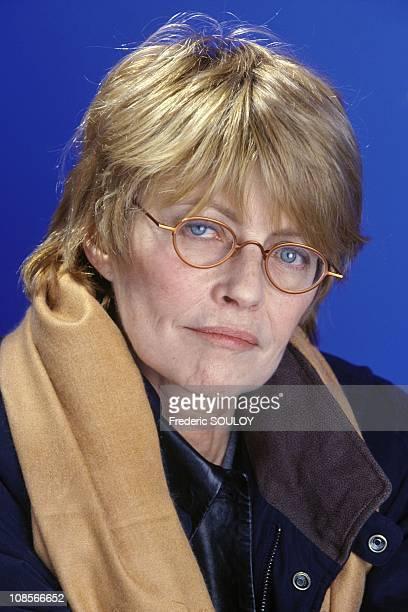 Studio: Claire Bretecher in Paris, France in January , 1999.
